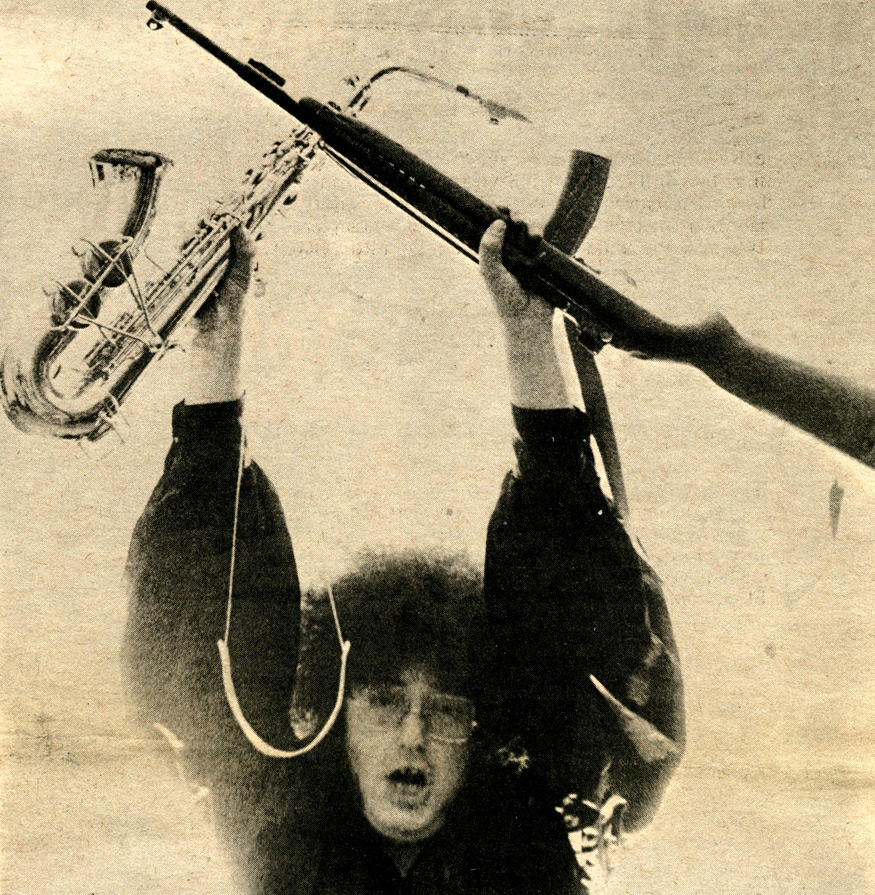 Rob Tyner, MC5. Photo by Leni Sinclair
